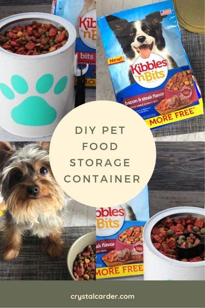 Diy Dry Food Pet Storage Container With Kibbles N Bits Savings