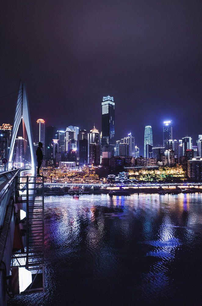 Chongqing at night. by Jennifer Bin on 500px