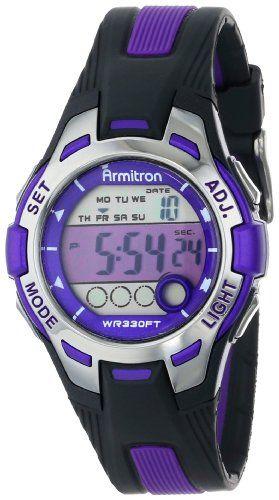 Armitron Sport Women's 45/7030PUR Purple Accented Black Resin Strap Digital Chronograph Watch Armitron Sport http://www.amazon.com/dp/B00B57NZDQ/ref=cm_sw_r_pi_dp_DdhBvb1FGY5MK