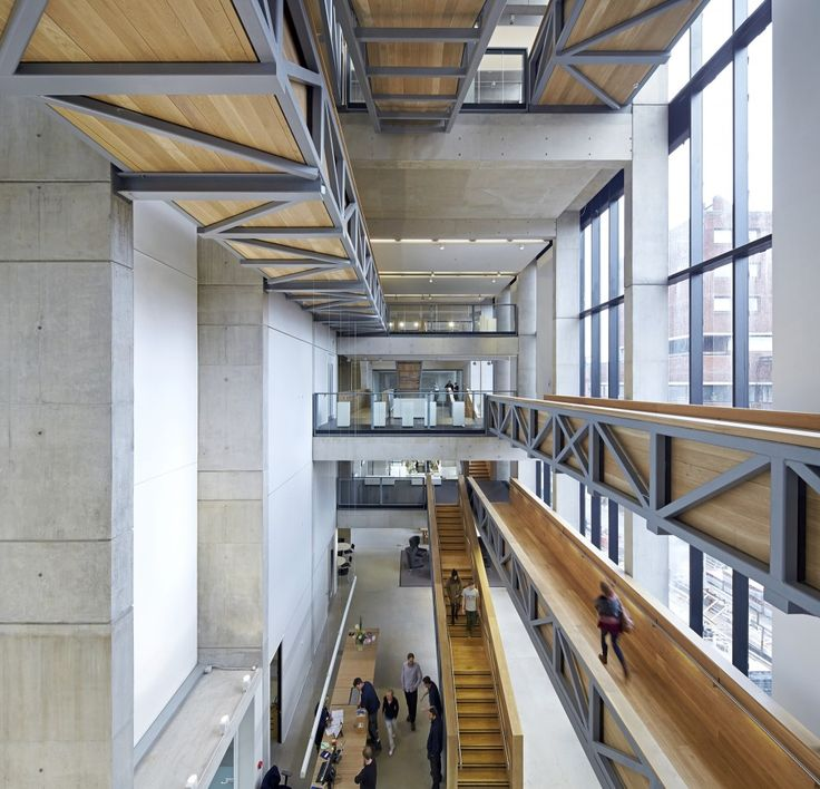 Manchester School of Art | Feilden Clegg Bradley Studios  love these floating circulation bridges