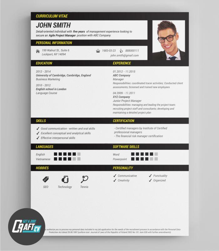 Original CV Sample | Creative CV | Professional CV Template