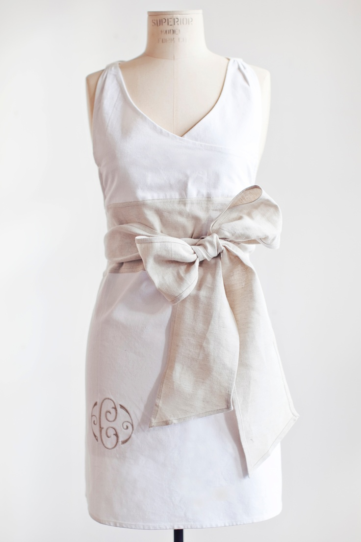 White aprons for sale - Frosty Tin Marshmallows Stunning Apron
