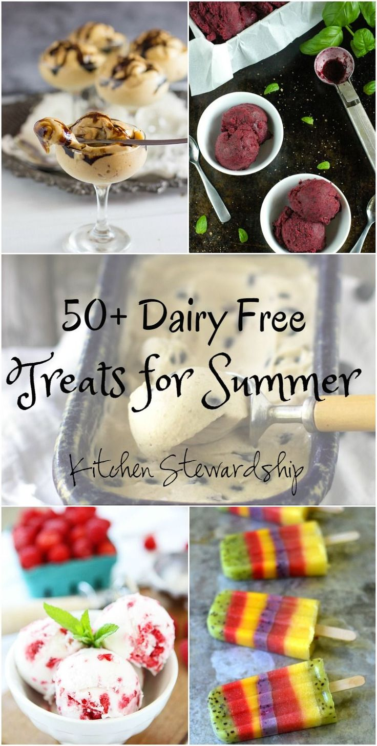 Your Freezer Doesn't Need Bar Codes to be Fun for Summer! 50+ Dairy-free Frozen Treats You Should Make and Not Buy. Dairy-free is sometimes hard to come by (or expensive!) so we've rounded up 50 dairy-free frozen treat recipes for you to make for the kids (or the kids at heart).
