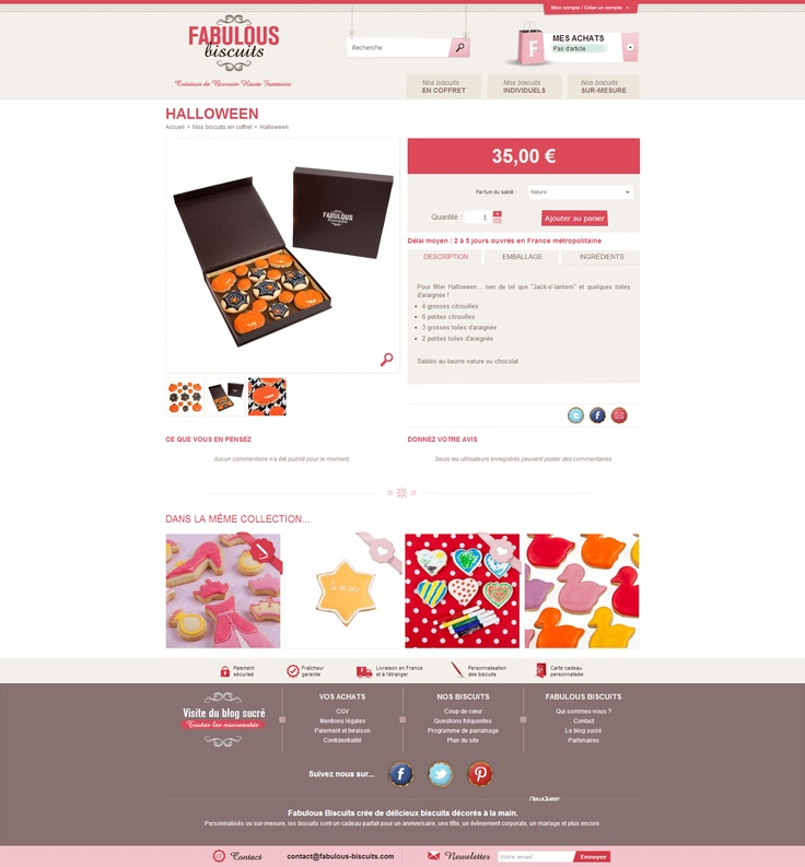 Fabulous Biscuits - Fiche produit - #prestashop by #newquest