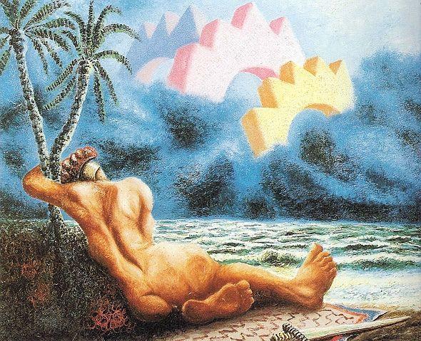Alberto Savinio -  Il sogno di Achille (Achilles' dream), 1929
