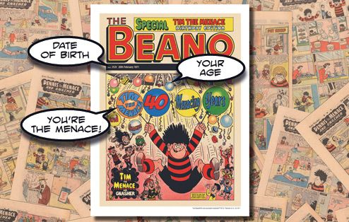 Personalised Beano Birthday Party Poster - for his 13th birthday?