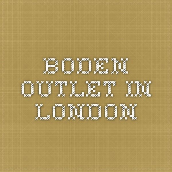 Boden outlet in London
