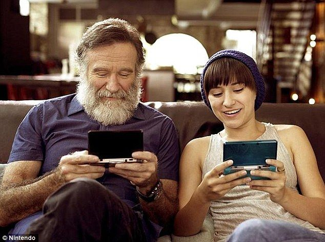 Robin Williams loves video games so much that he named his two children after game characters (Zelda and Cody). #rememberingRobinWilliams