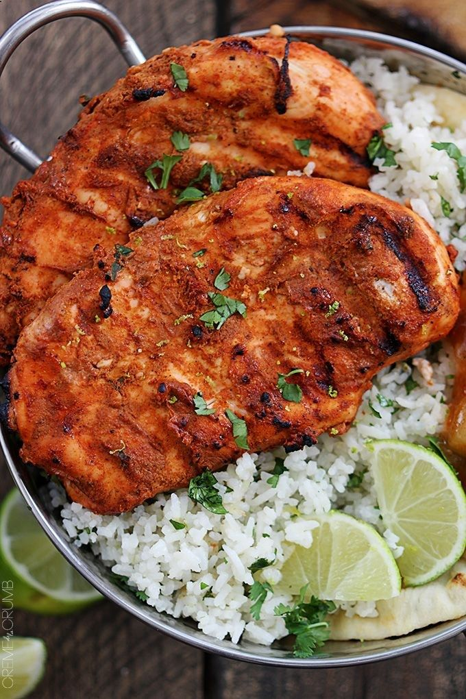 Grilled Tandoori Chicken - a classic Indian dish with bold spices! A 30 minute marinade makes this grilled dish SO easy and packed with FLAVOR!