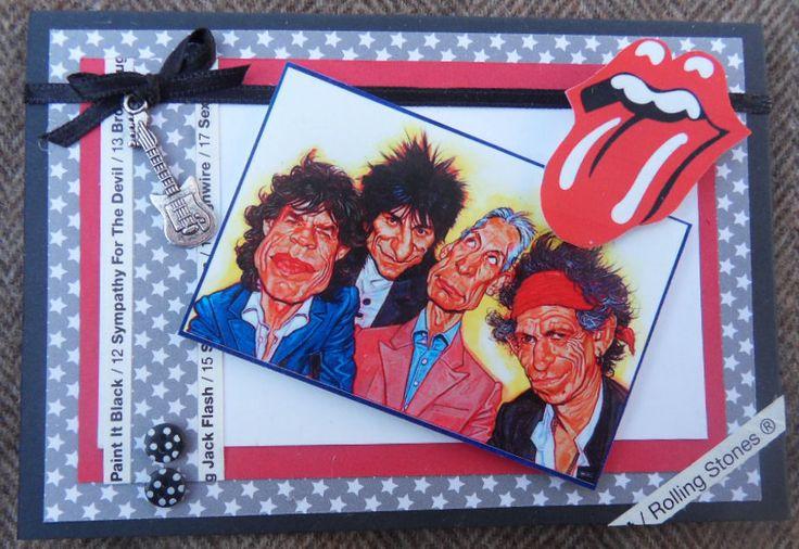 Rolling Stones scrapcard-  Rolling Stones kaart