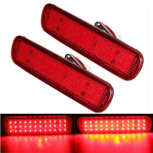 Pair LED Brake Tail Light Rear Bumper Reflector Fog Light  For Toyota Land Cruiser Lexus LX470