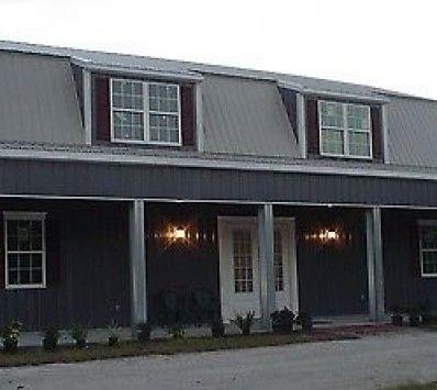 11 best metal building homes images on pinterest metal for Steel metal home gambrel building kit 3500 sq ft
