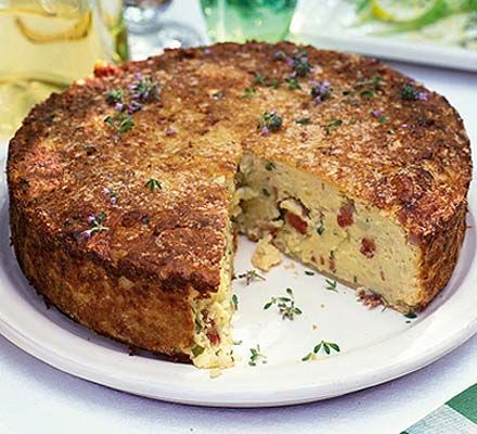 Sicilian Potato Cake (must try at Thanksgiving) @Sarah Fresz - Mashed potato cake - can you think of anything better?