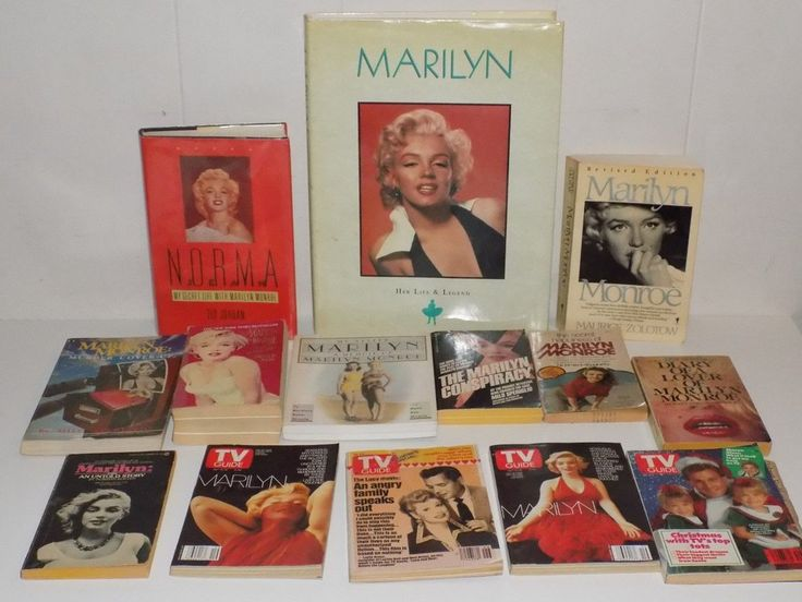 Collection of 10 Vintage Marilyn Monroe Books