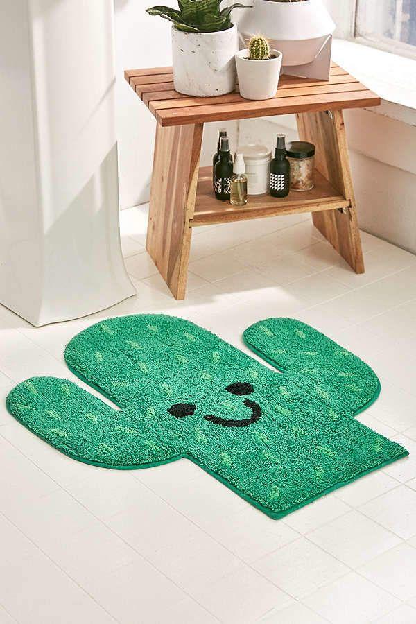 Urban Outfitters Cactus Bath Mat   » bohemian life » boho home design + decor » nontraditional living » elements of bohemia » #boho #ad
