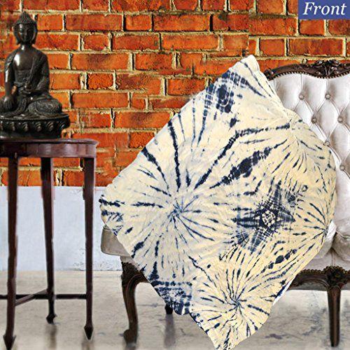 KraftDirect Boho Throw, Indigo Throw, Shibori Throw, Tie Dye Throw Decorative Throws For Sofa, Quilted Throws For Sofa, Sofa Throw Cover (Spiral Pattern) >>> Be sure to check out this helpful article. #BlanketsThrows
