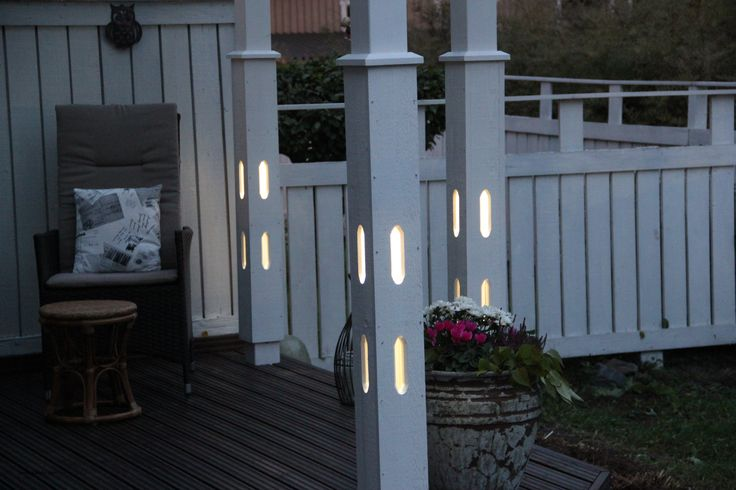 Patio with light