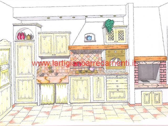 Progetti cucine in muratura | Cucina in muratura, Muratura e ...