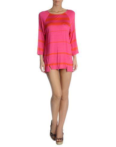 ¡Cómpralo ya!. BLUGIRL BLUMARINE BEACHWEAR Vestido de playa mujer. tejido en punto, logotipo, estampado bicolor, sin bolsillo , vestidoinformal, casual, informales, informal, day, kleidcasual, vestidoinformal, robeinformelle, vestitoinformale, día. Vestido informal  de mujer color violeta rojizo de BLUGIRL BLUMARINE BEACHWEAR.