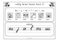 doelen VLL- kern 5: Kern 5: reus-jas-riem-bijl In deze kern leert uw kind: Letters: eu - j - ie - l - ou - uu Woorden: reus, jas, riem, bijl, hout, vuur De komende weken komen daar nieuwe letters bij: de eu van reus, de j van jas, de ie van riem, de l van bijl, de ou van hout en de uu van vuur. Het thema van deze kern is 'sprookjes' of 'verhalen en vertellingen'.