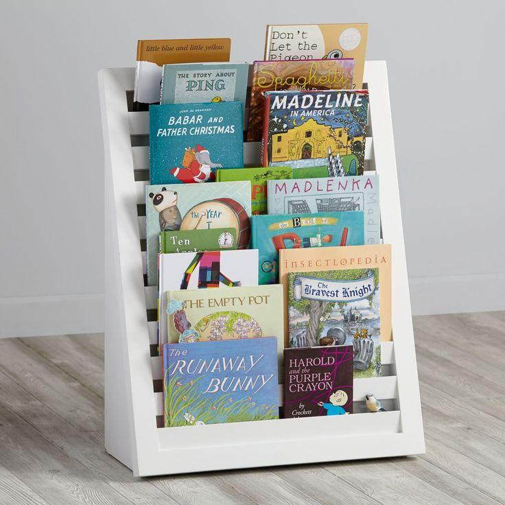 Shop Venetian Bookcase (White).  The tiered design of our Venetian Bookcase (White) puts all of your kids' favorite books right at their level.  Shop kids bookcases today. Hohes Bücherregal, ähnlich wie Magazin Regal / Stand in weiss und anderen Farben.