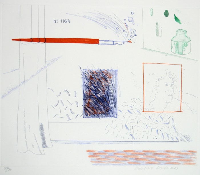 Etching Is The Subject  David Hockney,  Etching/lithograph/colorPrints Museums, David Hockney, Turner Collection, Art Prints, Etchings Lithograph Colors, Fine Art, Janet Turner, Etching Lithograph Colors, Subject David