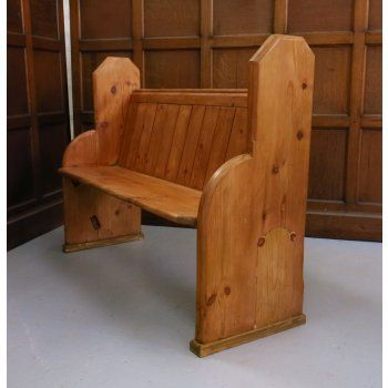 1890s Stripped and Waxed Wellingborough Church Chapel Pew Bench