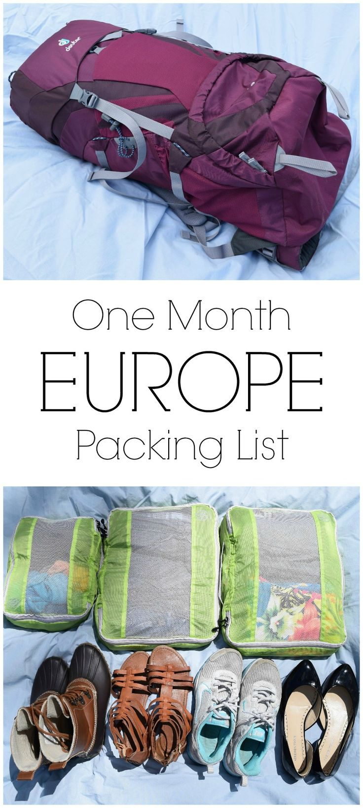 With only a carry-on, packing for our one month trip through Europe had to get…