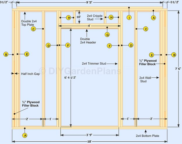 How to build the shed walls. Detailed instructions for framing the wall, adding…