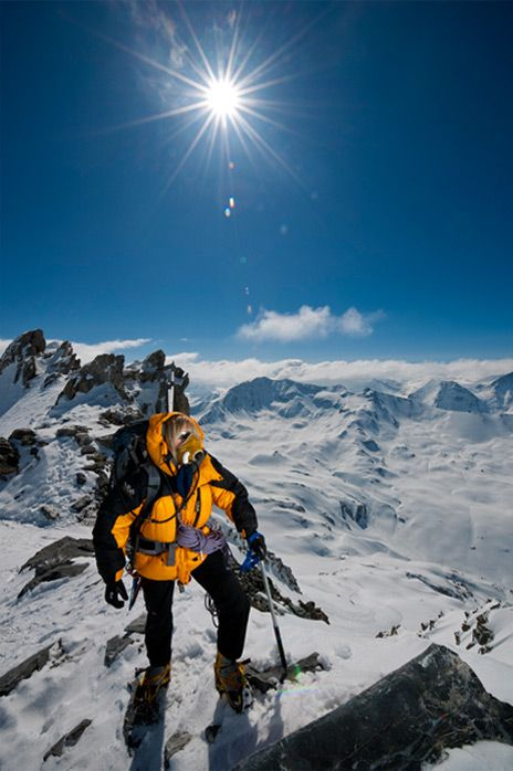 Everest Summit. Sun looks like a star--no doubt someone has that lens aperture cranked down to f/22.