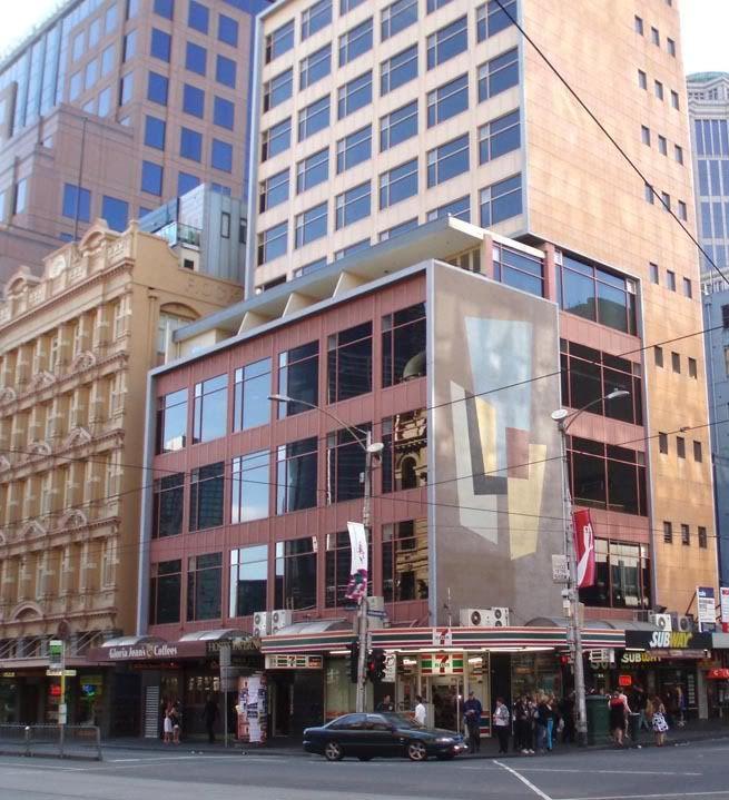 Corner Flinders and Elizabeth Street, 2006: Melbourne Australia (where Fink's building once stood)