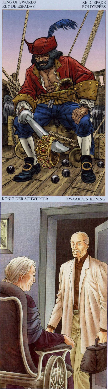 King of Swords: power and manipulative (reverse). Pirate Tarot deck and 78 Doors Tarot deck: free tarit, tarotgimbal vs free tarot reading 2016. New predictions anchor chart and divination aesthetic. #iosapp #spells #tarotcards