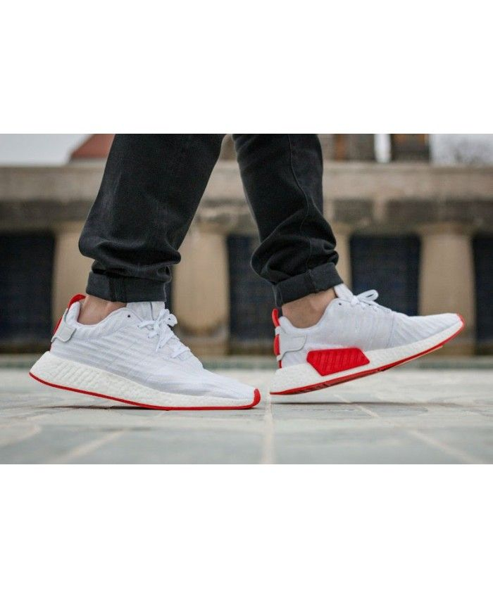 c2bfc4aff Adidas Nmd R2 White Red trainers for cheap