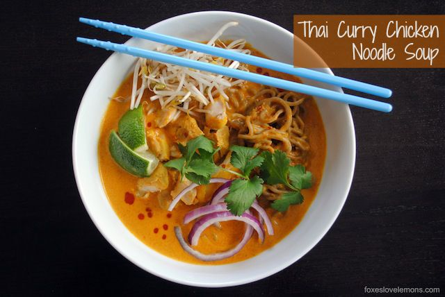 Thai Curry Chicken Noodle Soup (Khao Soi) - Chiang Mai, Northern Thailand