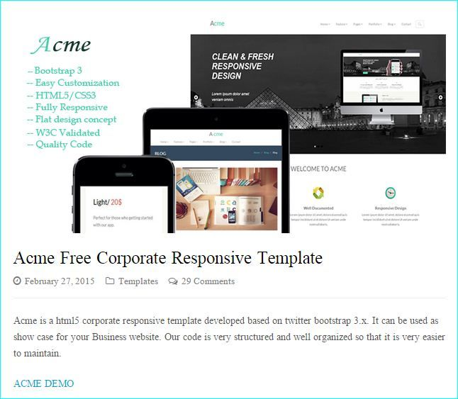 22 best Best Free Responsive HTML5 CSS3 Website Templates images - free test templates
