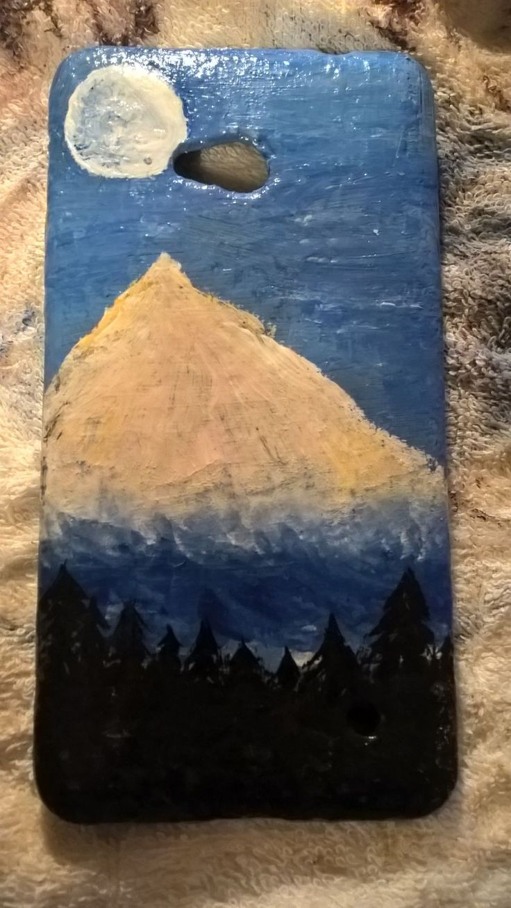 Art on everything #art #mountain #naturepic #loveart  #painting