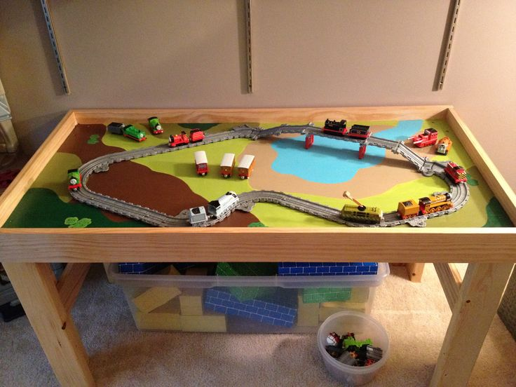 diy train table would love to paint grassfarm some brown dirt and