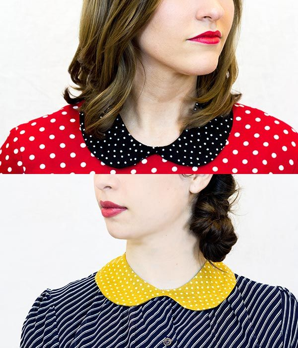 Love these DIY Peter Pan collars. Such a great tutorial and with a FREE DOWNLOADABLE PATTERN!!!