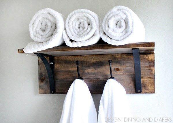 10 Ideen zur Aufbewahrung von Badetüchern