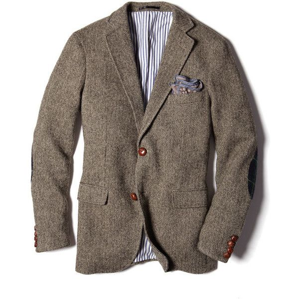 Gant By Michael Bastian Tweed Blazer ($570) ❤ liked on Polyvore featuring men's fashion, men's clothing, men's sportcoats, jackets, men and outerwear
