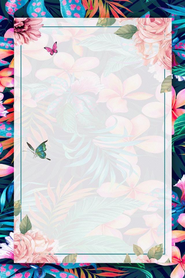 Gambar Latar Belakang Baru Bunga Musim Bunga Bingkai Hijau