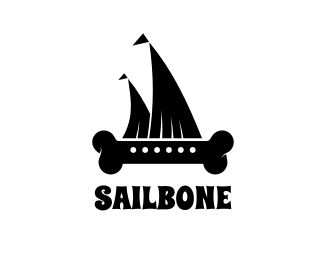 Sailbone Logo design - This logo is ideal for design & creative services, entertainment, internet & web, and any related businesses.