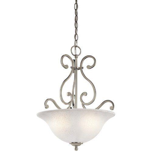 Kichler Lighting 43227NI Camerena 3-Light Pendant, Brushed Nickel Finish with White Scavo Glass Kichler Lighting http://www.amazon.com/dp/B00AJP6P6Y/ref=cm_sw_r_pi_dp_ODiGvb1CQTXKB