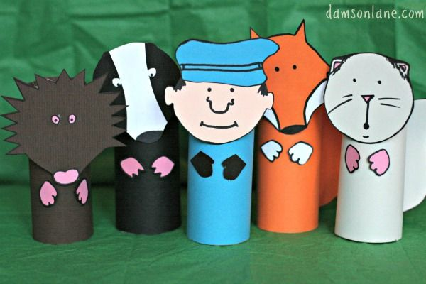 Percy the Park Keeper and Woodland Animals Craft for One Snowy Night  free templetes   so cute !