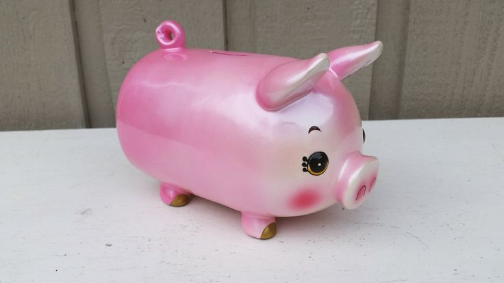 Funky Pink Piggy Bank - Made in Japan by naturegirl22 on Etsy
