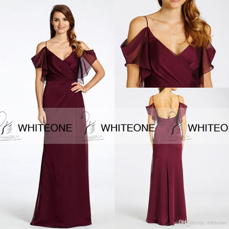 Buy wholesale bridesmaid dresses with lace,tangerine bridesmaid dresses along with lemon bridesmaid dresses on DHgate.com and the particular good one- New Jim Hjelm 2015 Burgundy Bridesmaid Dresses Sheath Spaghetti Juliet Off-Shoulder Zipper Long Chiffon Maid Of Honor Dresses Custom is recommended by whiteone at a discount.