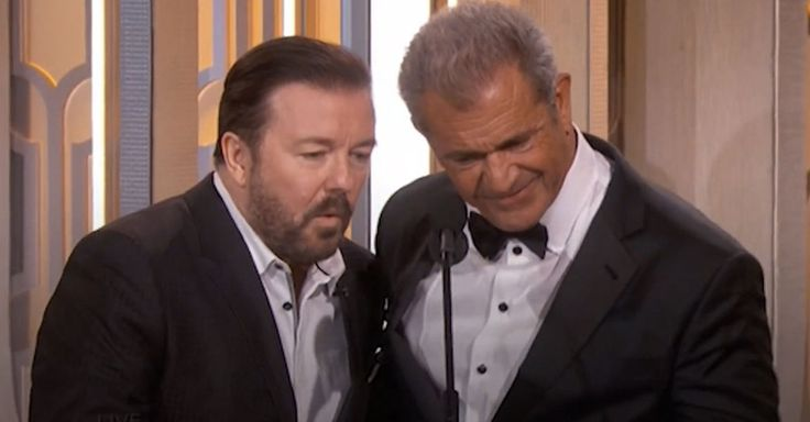 Ricky Gervais mocked Mel Gibson at the 2016 Golden Globes. (Pretty funny, he took it well and even gave a little back)