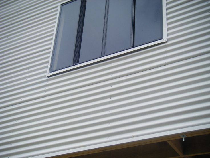 Colorbond Wall Cladding With Contrasting Windows Only