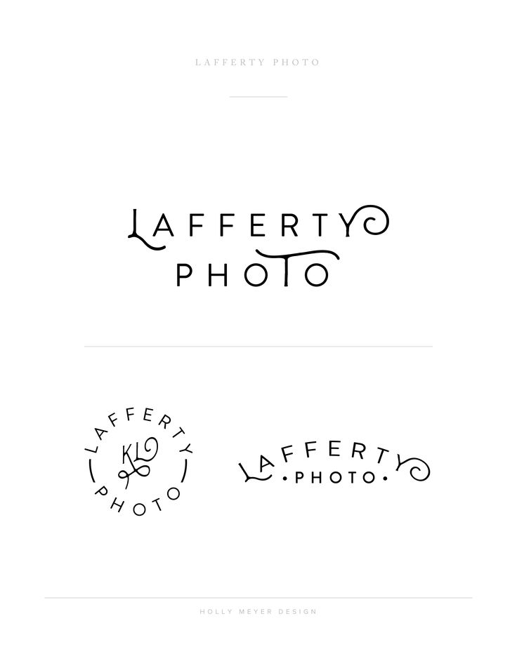 A Hip Logo By Holly Meyer Design For Lafferty Photo Wedding And Lifestyle Photographer