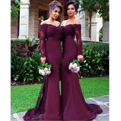 25  best ideas about Long lace bridesmaid dresses on Pinterest ...
